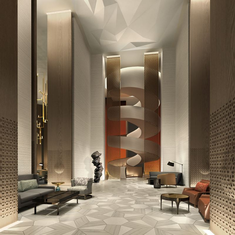 Four Seasons Hotel Kuwait: лестница в лобби