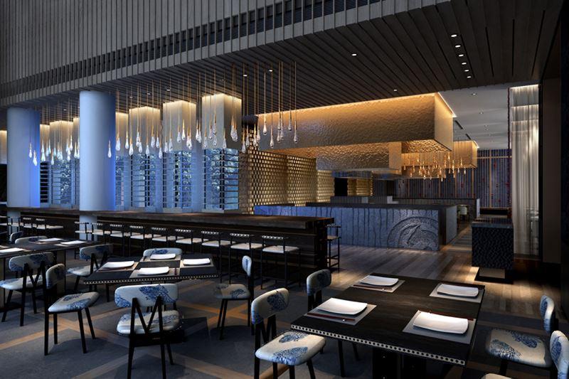 Four Seasons Hotel Kuwait: дизайн интерьера ресторана