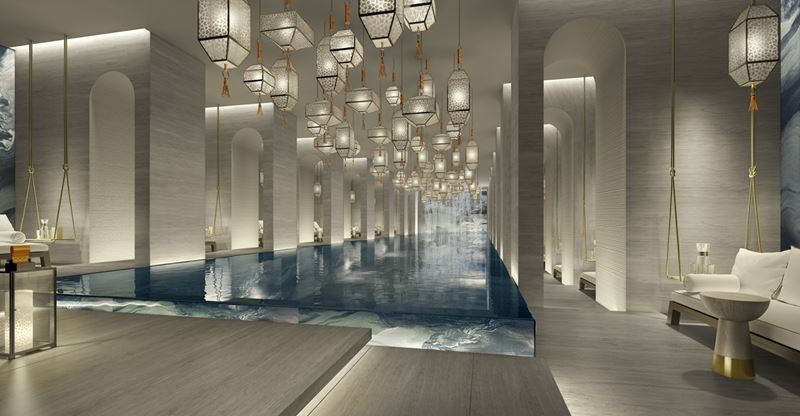 Four Seasons Hotel Kuwait: спа-центр с бассейном