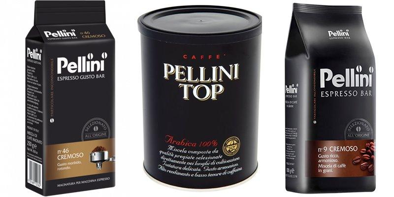 Лучшие марки итальянского кофе - Pellini - эспрессо с пенкой в зернах и молотый