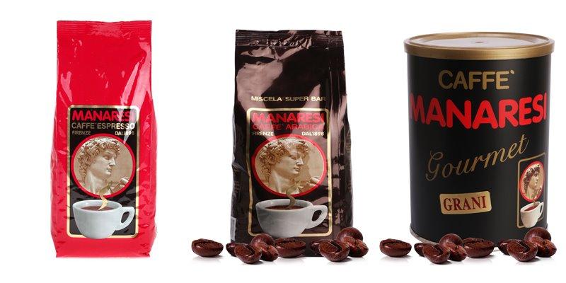 Лучшие марки итальянского кофе - Manaresi - зерновой и молотый для эспрессо