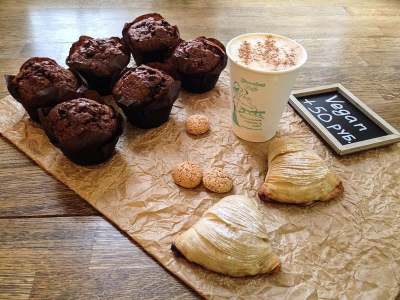 Кофейни Москвы: «Granvillano caffè» - капуччино с корицей и маффинами