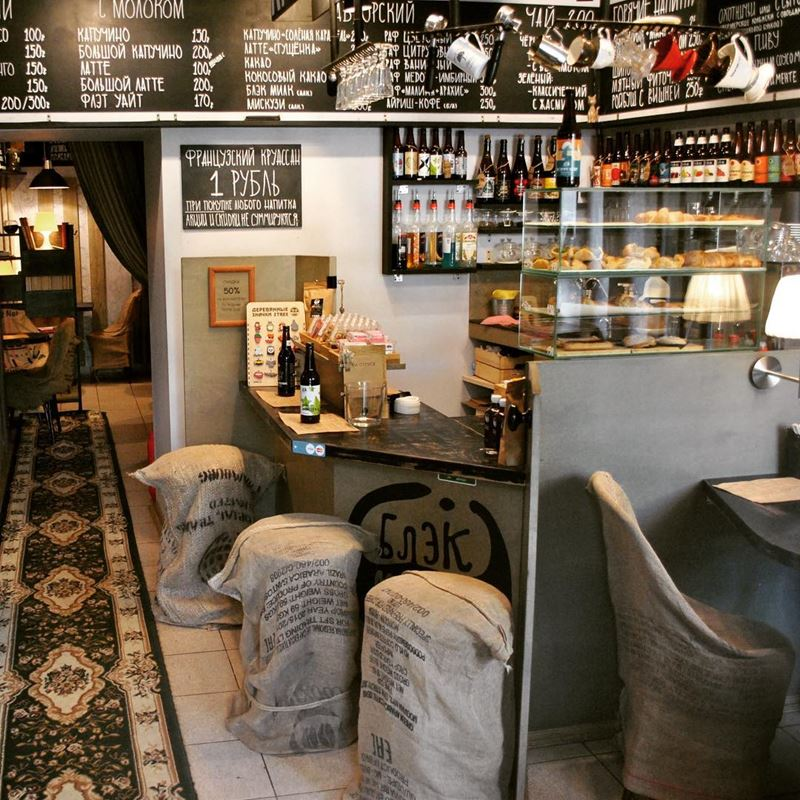 Кофейни Москвы: «Блэк Милк» - дизайн интерьера