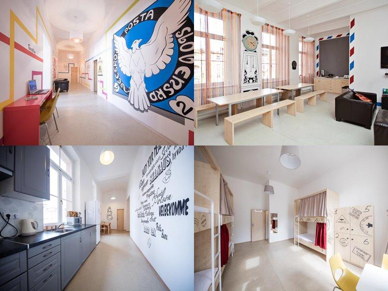 Лучшие хостелы Праги - Post Hostel - светлый дизайн интерьера