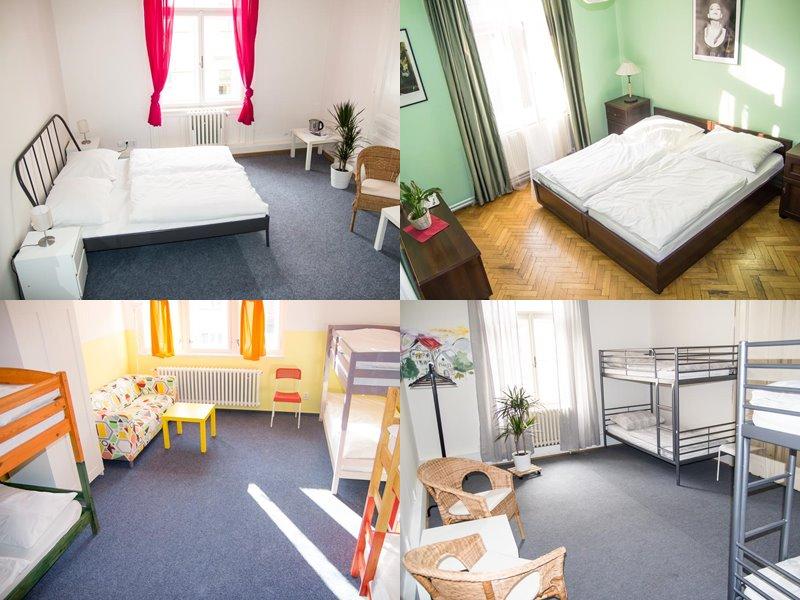 Лучшие хостелы Праги - Hostel Franz Kafka - двухместные и двухъярусные кровати