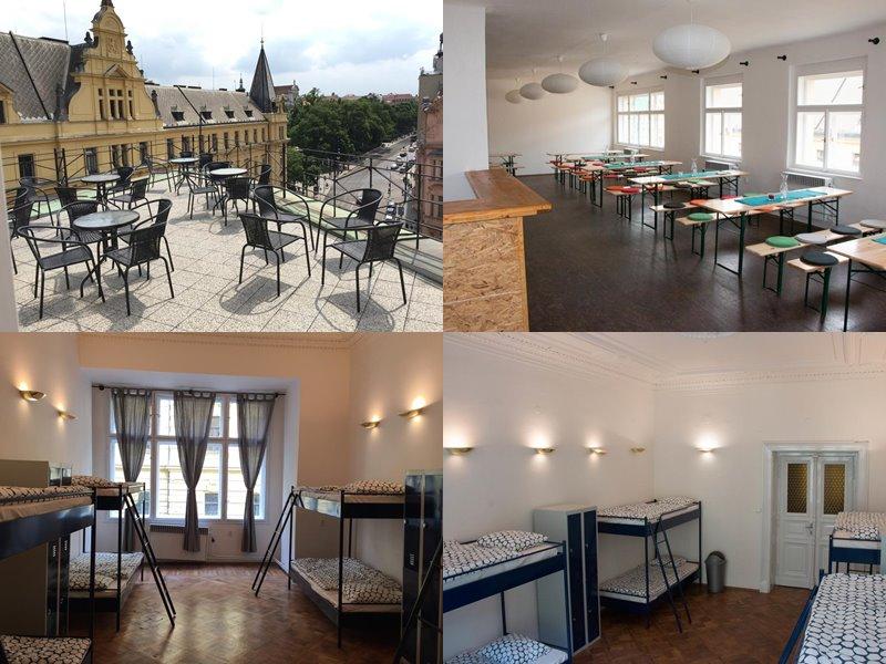 Лучшие хостелы Праги - Cosmopole Hostel - красивый вид с терассы руфтопа