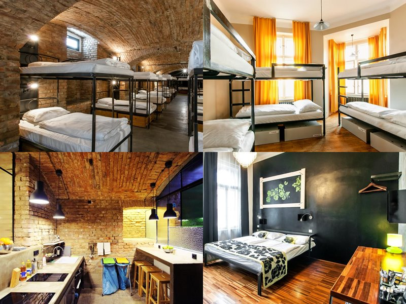 Лучшие хостелы Праги - Czech Inn - деревянные полы, кирпичные стены