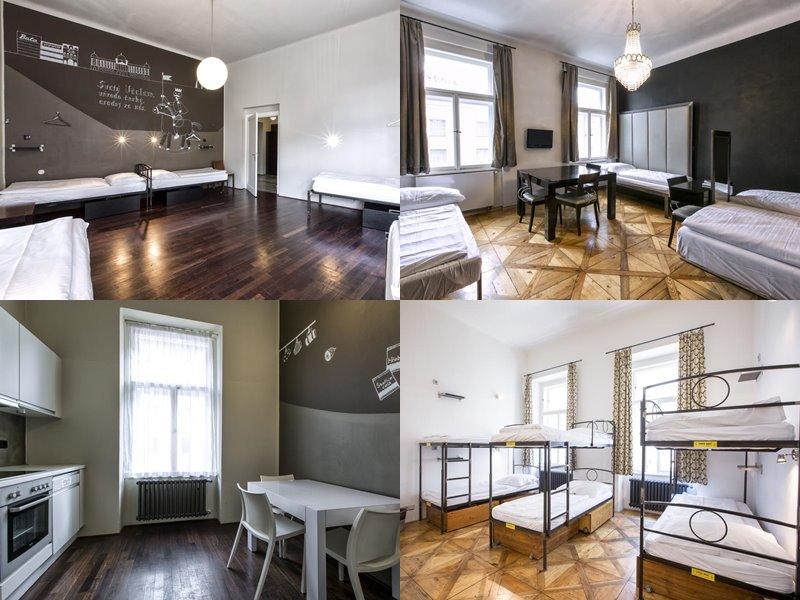 Лучшие хостелы Праги - Sophie's Hostel - скандинавский стиль в серо-белых тонах
