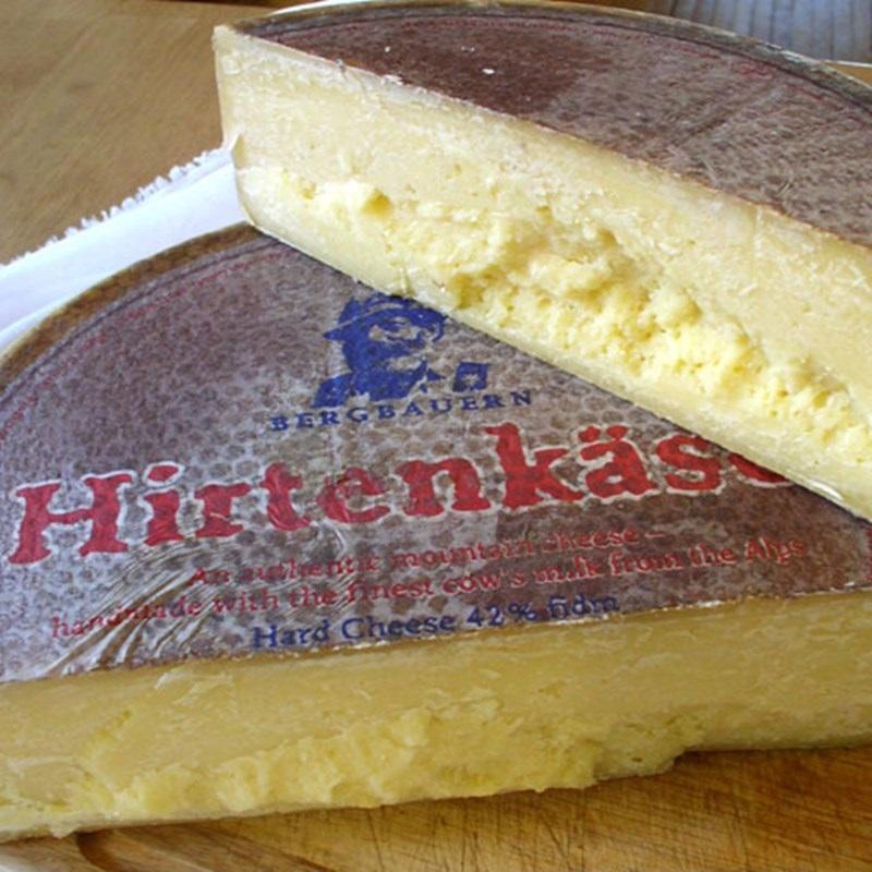 Сорта немецкого сыра - Хиртенкезе (Hirtenkäse) - твёрдый желтый