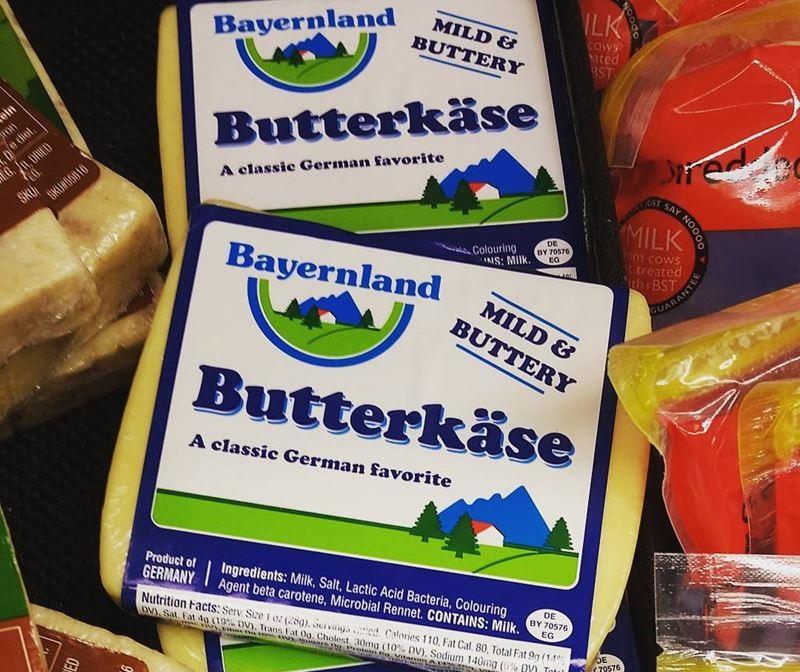 Сорта немецкого сыра - Буттеркезе (Butterkäse) - жирный со вкусом сливочного масла