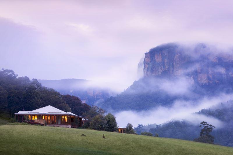 Курорт Emirates One&Only Wolgan Valley в Австралии - великолепный пейзаж долины