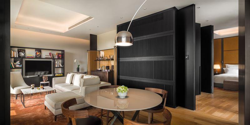 Bulgari Hotel Beijing - Deluxe Suite - дизайн интерьера номера