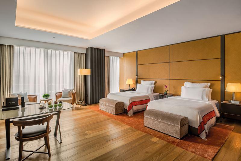 Bulgari Hotel Beijing - Deluxe Double Room - интерьер номера