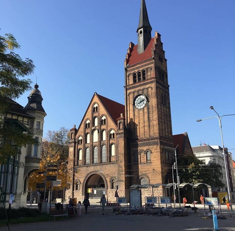 Красивые города Чехии: Евангелистский костёл Христа в Остраве