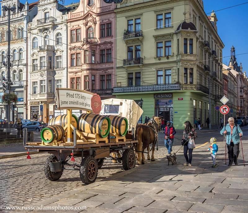 Красивые города Чехии: Пльзень - архитектура улицы