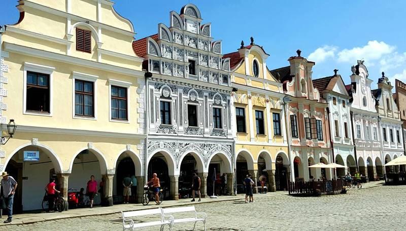 Красивые города Чехии: архитектура Тельчя
