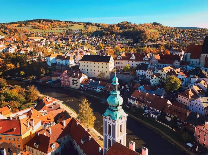 Красивые города Чехии: Чески-Крумлов