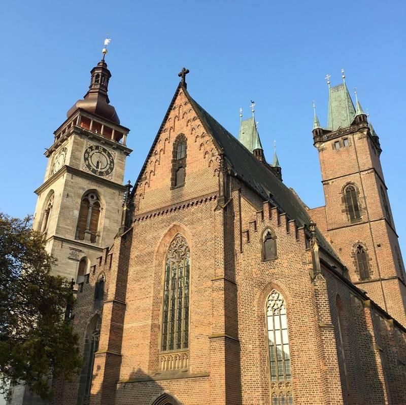 Красивые города Чехии: Собор Святого Духа в Градец-Кралове