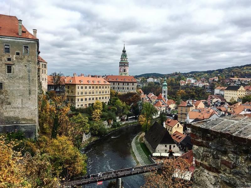Красивые города Чехии: Чески-Крумлов на Влтаве