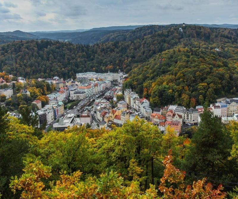 Красивые города Чехии: Карловы Вары - бальнеологический курорт