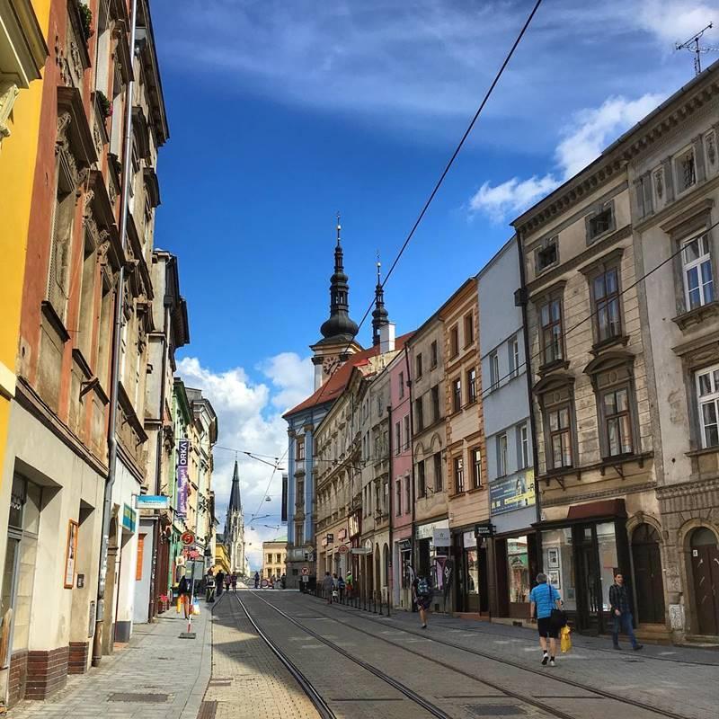 Красивые города Чехии: архитектуры улиц Оломоуца