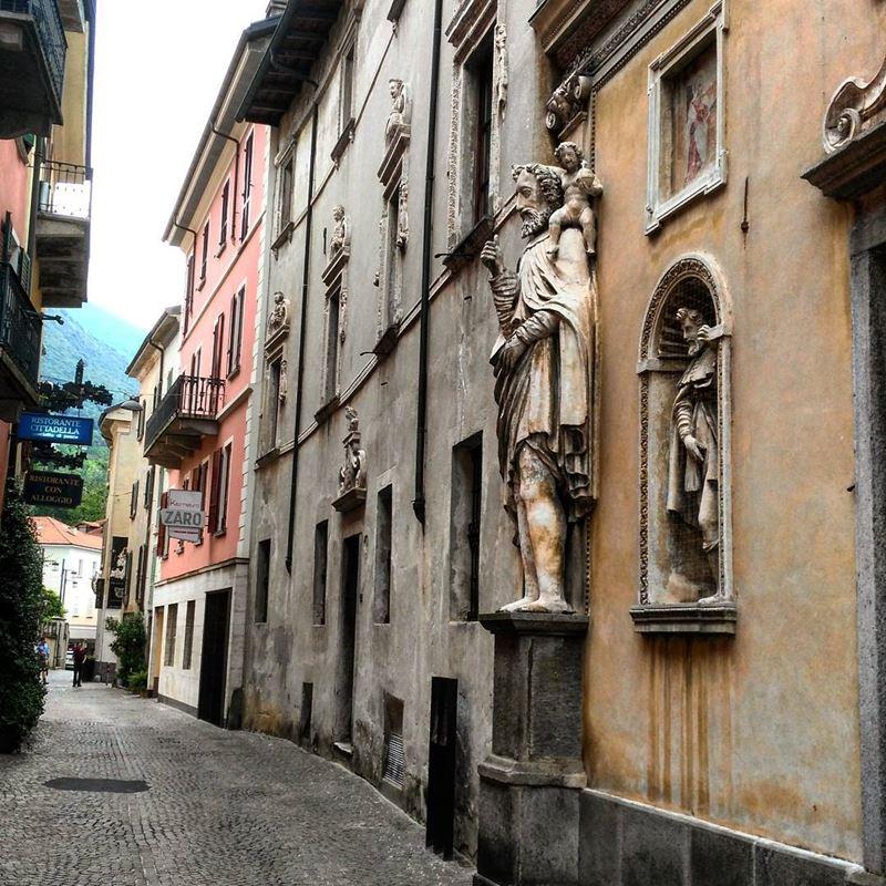 Красивые города Швейцарии: итальянская архитектура улиц Локарно