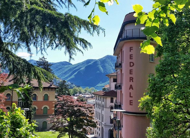 Красивые города Швейцарии: красочный пейзаж Лугано