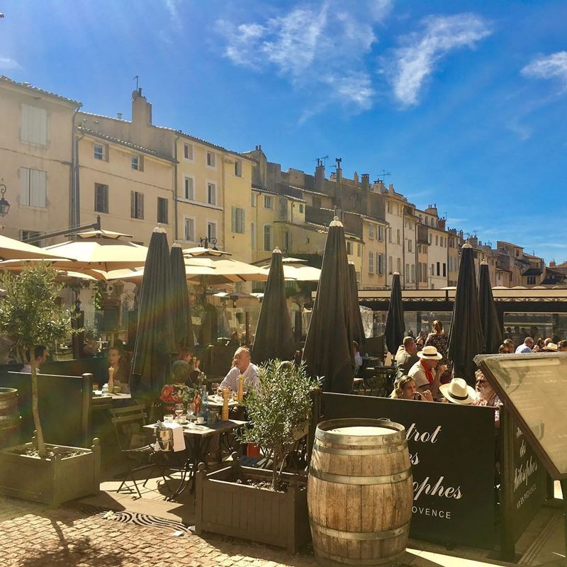 Крупные и красивые города Франции: Экс-ан-Прованс - городские кафе