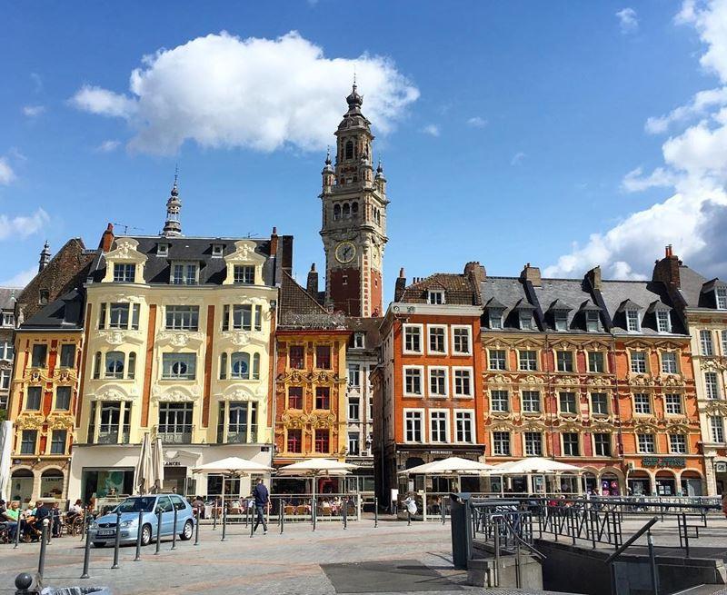 Крупные и красивые города Франции: центральная площадь Лилля - Гран-Плас