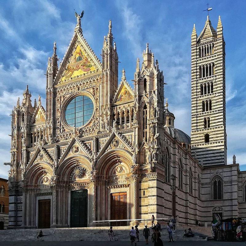 Крупные и красивые города Италии: Сиенский собор