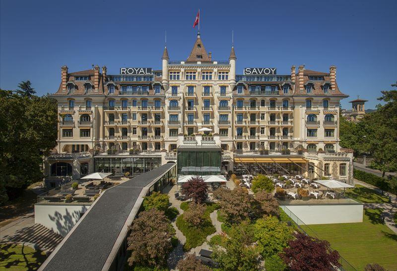 Royal Savoy Hotel & Spa Lausanne - фасад отеля в Лозанне, Швейцария