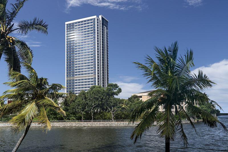 Shangri-La Hotel, Colombo - архитектура отеля в Коломбо, Шри-Ланка