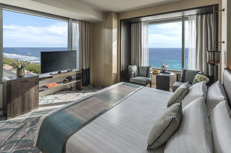 Shangri-La Hotel, Colombo - дизайн интерьера номера с видом на Индийский океан