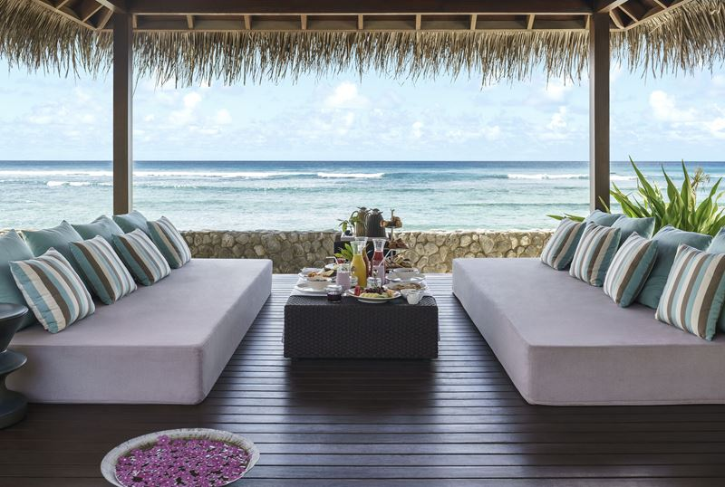 Shangri-La`s Villingili Resort & Spa - умиротворяющий вид на океан