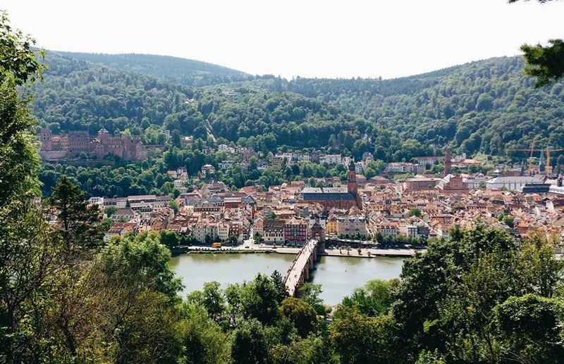 Крупные и красивые города Германии - Вид на Гейдельберг