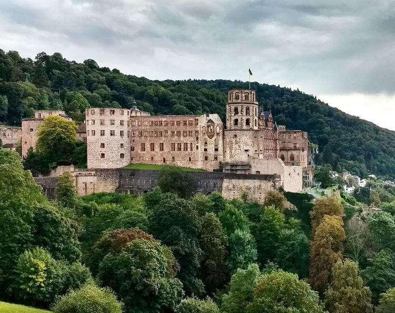 Крупные и красивые города Германии - Гейдельбергский замок