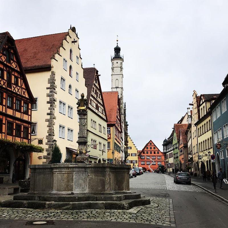 Крупные и красивые города Германии - уютный и живописный Ротенбург-об-дер-Таубер