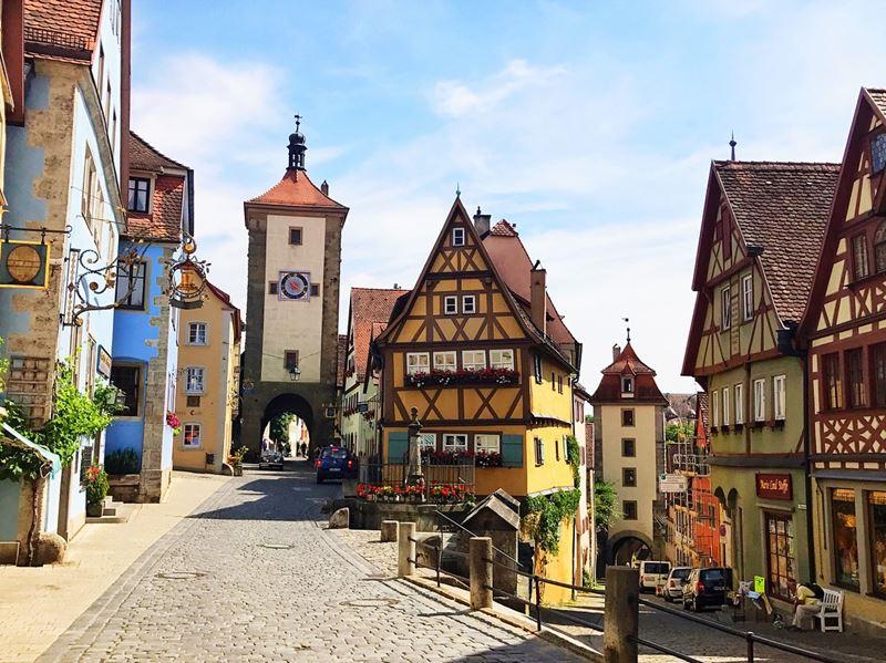 Крупные и красивые города Германии - Площадь Пленляйн - Ротенбург-об-дер-Таубер