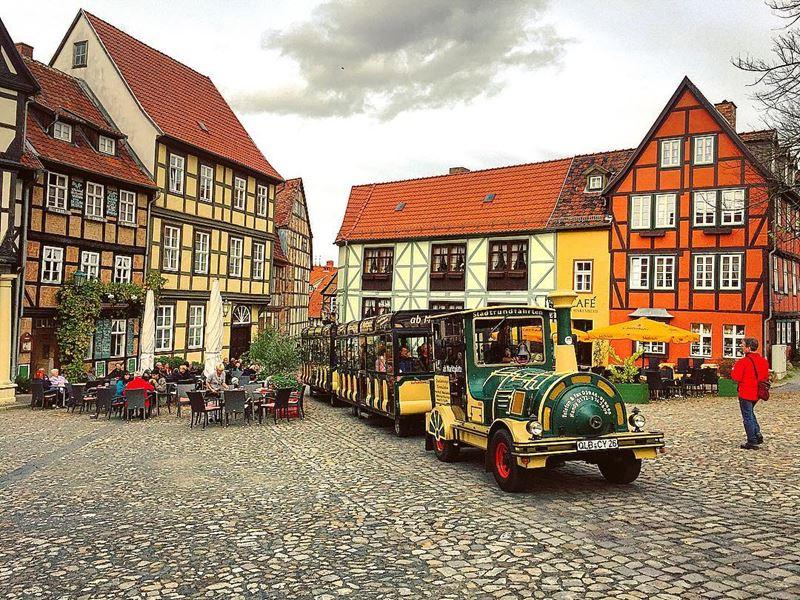 Крупные и красивые города Германии - Фахверковая архитектура Кведлинбурга