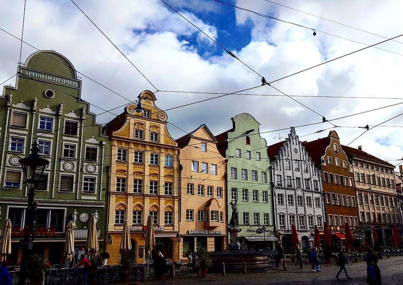 Крупные и красивые города Германии - Ратушная площадь Аугсбурга
