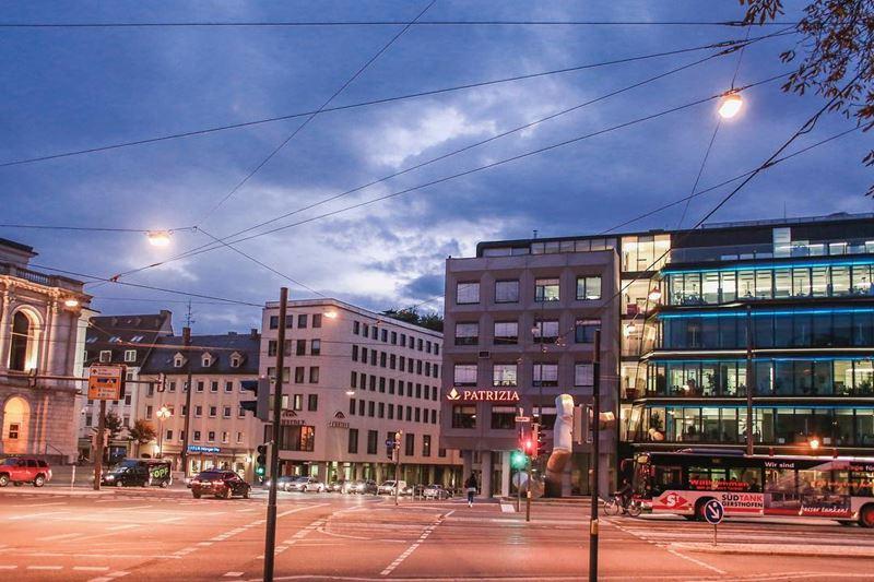 Крупные и красивые города Германии - Вечерний Аугсбург