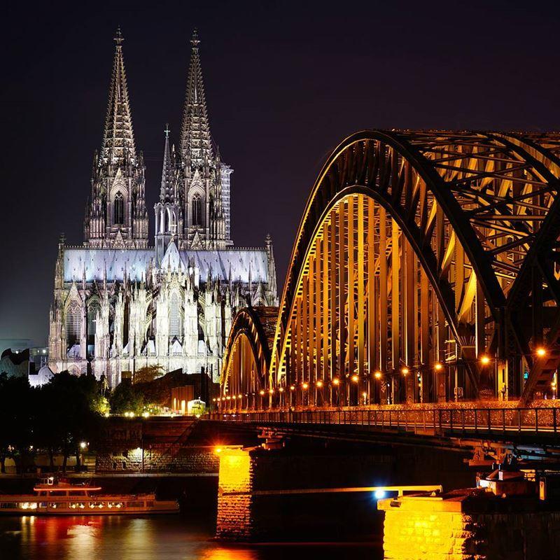 Крупные и красивые города Германии - Кёльнский кафедральный собор