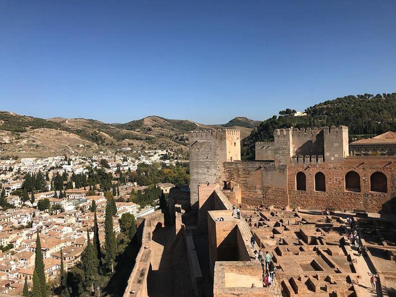 Крупные и красивые города Испании - Гранада - Сады и крепость Альгамбра