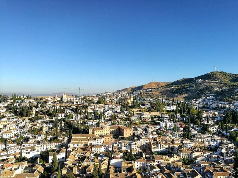 Крупные и красивые города Испании - Гранада - вид сверху