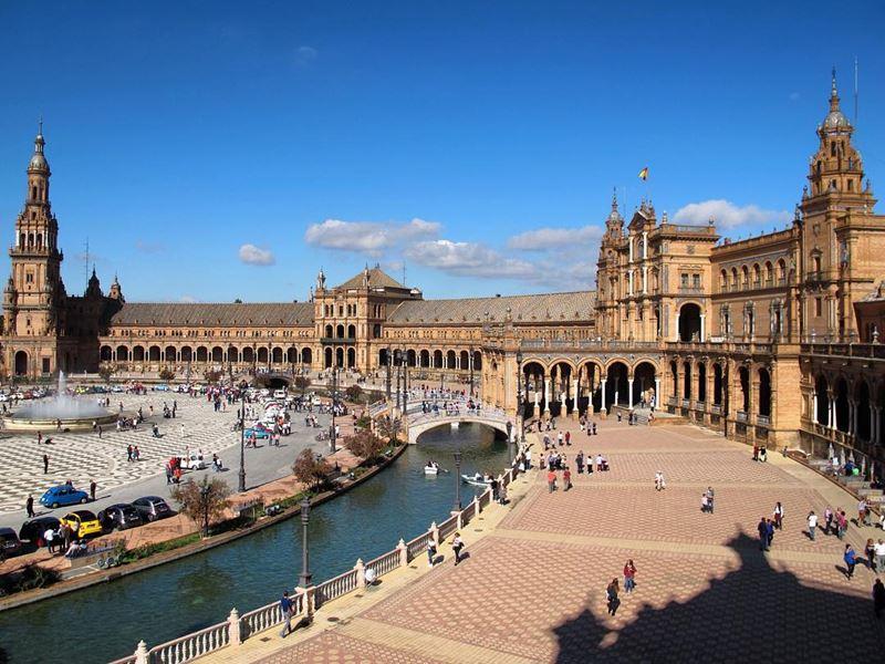 Крупные и красивые города Испании - Севилья - Площадь Испании