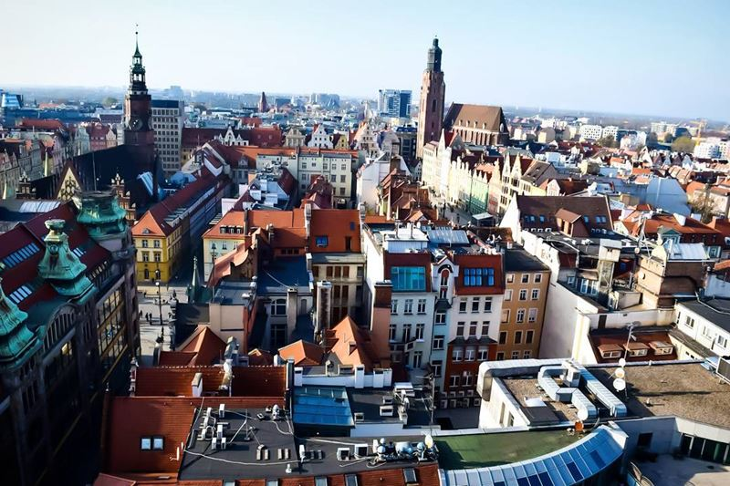 Крупные и красивые города Польши - Панорама Вроцлава