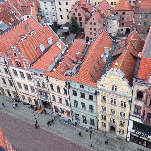 Крупные и красивые города Польши - Вид сверху на исторический центр Торуня