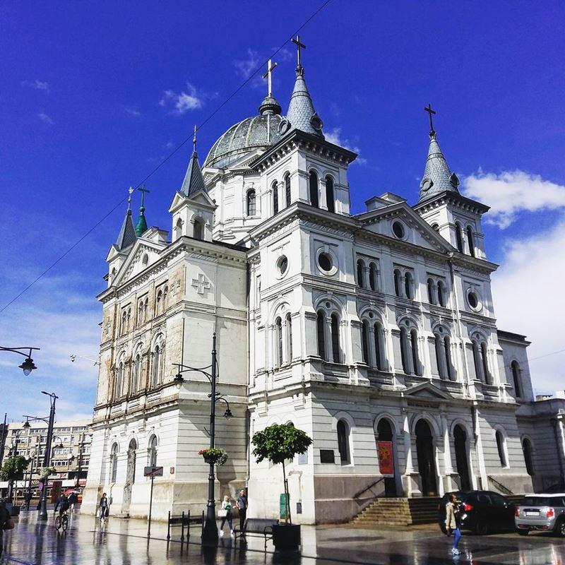 Крупные и красивые города Польши - Католическая церковь Святого Духа в Лодзи