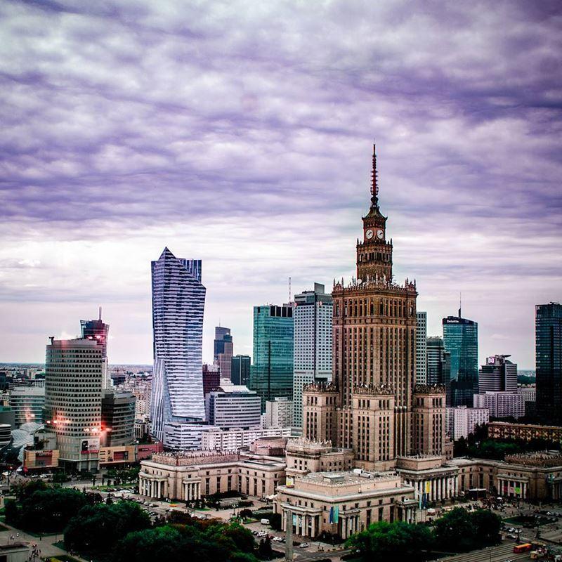 Крупные и красивые города Польши - Дворец культуры и науки в Варшаве
