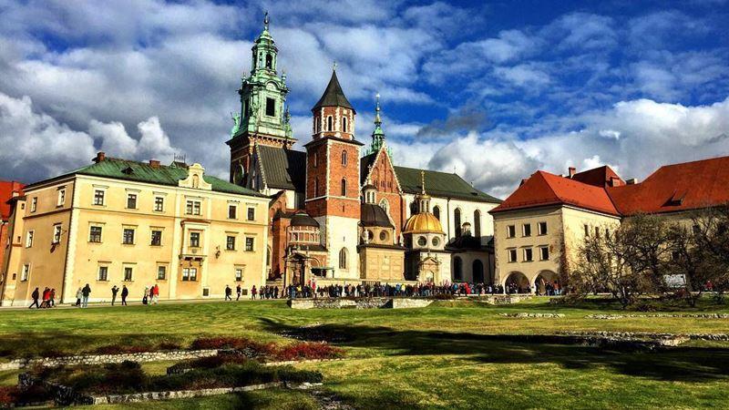 Крупные и красивые города Польши - Краков - старинная архитектура
